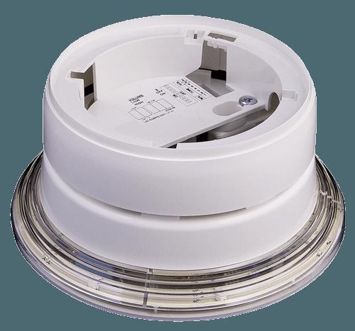 Base de sirena y flash analógica Advanced - Comunicación inalámbrica bidireccional - Hasta 200m de comunicación - Configurable hasta 32 tonos / 95dBA - Alimentado por bateria de litio y bat. de respaldo - Certificada en EN54-25 y EN54-03