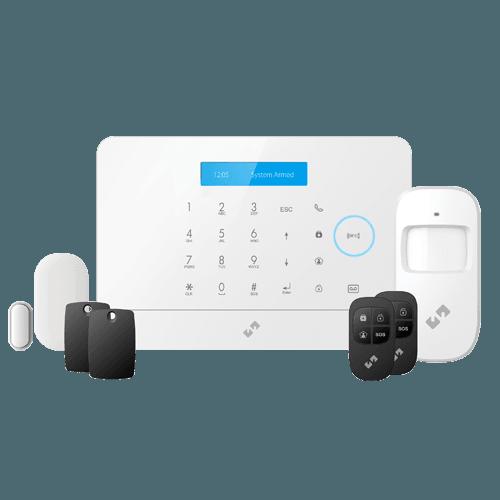 Nivian Smart Alarm Kit - Tastiera tattile e lettore RFID - Comunicazione WiFi e GSM - Senza fili 868 MHz & 433 MHz - Fino a 60 dispositivi inalambrici - Compatibile con la piattaforma Tuya